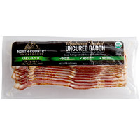 North Country Smokehouse 8 oz. Humane Organic Applewood Smoked Uncured Bacon - 12/Case