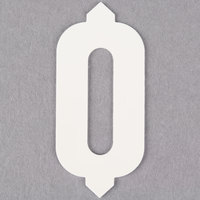 1 inch White Molded Plastic Number 0 Deli Tag Insert - 50/Set