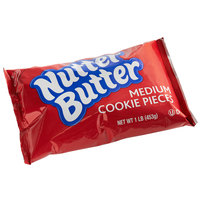 Nabisco Nutter Butter 1 lb. Medium Cookie Crumb Pieces - 12/Case