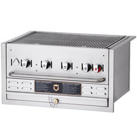Crown Verity BI-30 Natural Gas 30 inch Stainless Steel Built-In Outdoor BBQ Grill / Charbroiler