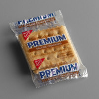 Nabisco Premium 2 Count (0.24 oz.) Whole Grain Saltine Crackers - 500/Case