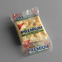 Nabisco Premium 2 Count (0.20 oz.) Unsalted Tops Saltine Crackers - 500/Case