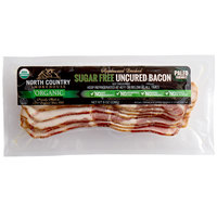 North Country Smokehouse 8 oz. Humane Organic Applewood Smoked Sugar Free Uncured Bacon - 12/Case