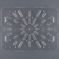 Cambro 20CWD135 Camwear 1/2 Size Clear Polycarbonate Drain Tray
