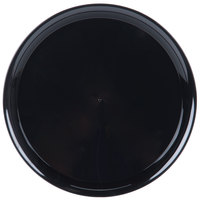 WNA Comet A912BL Checkmate 12 inch Black Round Catering Tray - 5/Pack