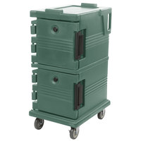 Cambro UPC600192 Ultra Camcarts® Granite Green Insulated Food Pan Carrier - Holds 8 Pans