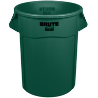 RubbermaidFG265500DGRN BRUTE Green 55 Gallon Trash Can