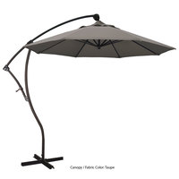 California Umbrella BA908 PACIFICA Bayside 9' Crank Lift Cantilever Umbrella with 2 inch Aluminum Pole - Pacifica Canopy