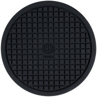 American Metalcraft TRVR10 10 inch Round Heat-Resistant Black Silicone Trivet