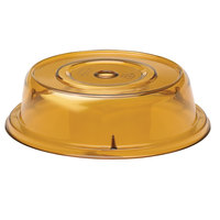 Cambro 909CW153 Camwear Camcover 9 3/4 inch Amber Plate Cover   - 12/Case