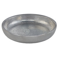 American Metalcraft ADSEAS12 12 inch Round Silver Double Wall Hammered Aluminum Seafood Tray