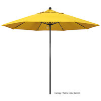 California Umbrella EFFO 908 OLEFIN Oceanside 9' Round Push Lift Umbrella with 1 1/2 inch Fiberglass Pole - Olefin Canopy