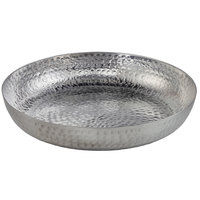 American Metalcraft ASEAS14 14 inch Round Silver Hammered Aluminum Seafood Tray