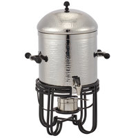 American Metalcraft MESABUSH13 3.25 Gallon (52 Cup) Round Hammered Stainless Steel Coffee Chafer Urn