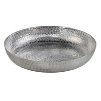 American Metalcraft ASEAS12 12 inch Round Silver Hammered Aluminum Seafood Tray