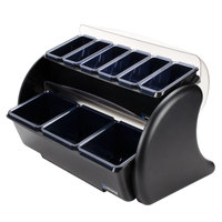 San Jamar BDS4266 Dome Stacker Mini Dome 9-Compartment Two Tier Condiment Bar