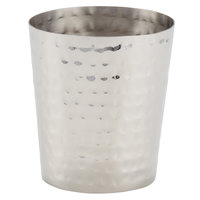 American Metalcraft FCH12 12 oz. Hammered Stainless Steel Oval French Fry Cup with Mirrored Finish