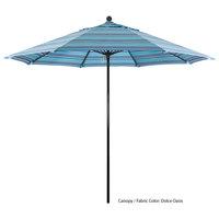 California Umbrella EFFO 908 SUNBRELLA 1A Oceanside Customizable 9' Round Push Lift Umbrella with 1 1/2 inch Fiberglass Pole - Sunbrella 1A Canopy