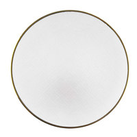 The Jay Companies 1875000WH 13 inch White Round Glass Laural Charger Plate