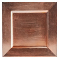 The Jay Companies A81RG-13 Square Rose Gold Melamine Charger Plate