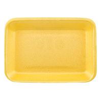 CKF 87902 (#2) Yellow Foam Meat Tray 8 1/4 inch x 5 3/4 inch x 3/4 inch - 500/Case