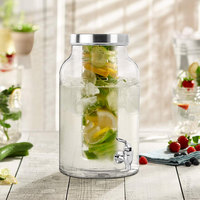 The Jay Companies 210437-GBS 1.5 Gallon Style Setter Lexington Glass Beverage Dispenser with Fruit Infuser