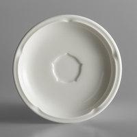 RAK Porcelain ANSA13 Anna 5 1/8 inch Ivory Porcelain Saucer - 12/Case