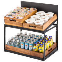 Tablecraft 11000 Two Tier Crate Display - 21 1/2 inch x 13 1/2 inch x 22 1/4 inch