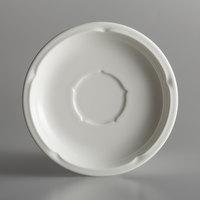 RAK Porcelain ANSA15 Anna 6 3/16 inch Ivory Porcelain Saucer - 12/Case
