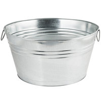 American Metalcraft GPTUB20 20 inch x 15 inch x 11 inch Oval Galvanized Metal Tub