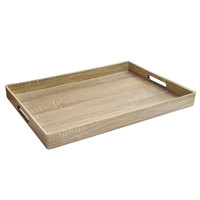 The Jay Companies 1270513 14 inch x 19 inch American Atelier Maple Polypropylene Room Service Tray