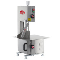 Avantco EMBS65SS 65 inch Blade Stainless Steel Countertop Vertical Band Meat Saw - 1 hp, 120V