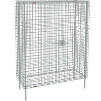 Metro SEC53S Stainless Steel Stationary Wire Security Cabinet 38 1/2 inch x 27 1/4 inch x 66 13/16 inch