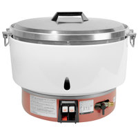 Thunder Group GSRC005N 100 Cup (50 Cup Raw) Natural Gas Rice Cooker - 35,000 BTU