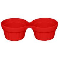 RAK Porcelain CFDR02BR Chef's Fusion 1 oz. Ember Red Porcelain Double Ramekin - 12/Case