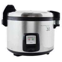 Thunder Group SEJ3201 60 Cup (30 Cup Raw) Stainless Steel Electric Rice Cooker / Warmer - 120V, 1460W