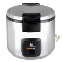 Thunder Group SEJ60000 66 Cup (33 Cup Raw) Stainless Steel Electric Rice Cooker / Warmer - 120V, 1780W