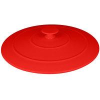 RAK Porcelain CFRD28BRLD Chef's Fusion 11 inch x 1 15/16 inch Ember Red Porcelain Cocotte Lid - 4/Case