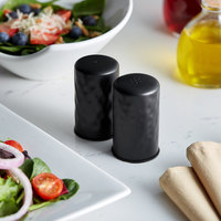 American Metalcraft BHSP2 2 oz. Black Hammered Finish Salt and Pepper Shaker Set