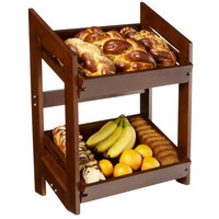 Rosseto BD152 Natura Nite Dark Bamboo Display Stand with Removable Trays