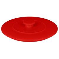 RAK Porcelain CFST15BRLD Chef's Fusion 5 7/8 inch Ember Red Round Porcelain Tureen Lid - 6/Case