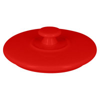 RAK Porcelain CFST10BRLD Chef's Fusion 4 1/8 inch Ember Red Round Porcelain Tureen Lid - 12/Case