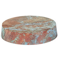 American Metalcraft RM95 10 1/8 inch x 2 1/8 inch Faux Reclaimed Wood Round Melamine Riser
