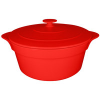 RAK Porcelain CFRD28BR Chef's Fusion 155.6 oz. Ember Red Round Porcelain Cocotte with Lid