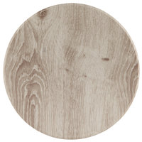 American Metalcraft BWM14 14 inch Faux Whitewash Wood Melamine Round Serving Board