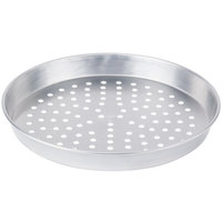 American Metalcraft PA90141.5 14 inch x 1 1/2 inch Perforated Standard Weight Aluminum Tapered / Nesting Pizza Pan
