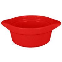 RAK Porcelain CFRD09BRBD Chef's Fusion 3.8 oz. Ember Red Porcelain Mini Cocotte   - 12/Case