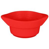 RAK Porcelain CFRD10BRB Chef's Fusion 7.3 oz. Ember Red Round Porcelain Cocotte - 12/Case