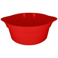 RAK Porcelain CFRD28BRBD Chef's Fusion 155.6 oz. Ember Red Round Porcelain Cocotte