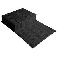Bon Chef 9717BLK Black Sandstone Swirl Riser Display - 13 1/4 inch x 21 1/2 inch x 3 inch